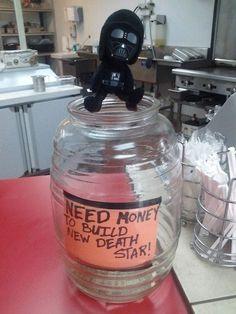 Clever tip jars