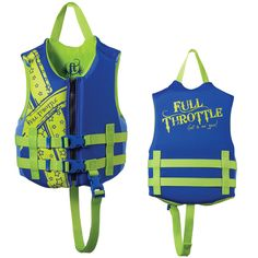 Full Throttle Rapid Dry PFD - Child 30-50lbs - Blue/Green - https://www.boatpartsforless.com/shop/full-throttle-rapid-dry-pfd-child-30-50lbs-bluegreen/
