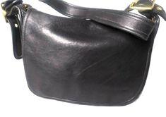 Vintage Coach 9951 Black Leather Coach Patricia Shoulder Bag Crossbody Made USA #Coach #CrossbodySaddleBag #Casual