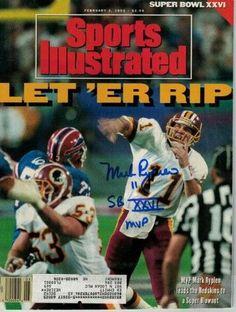 80350b31de4 Mark Rypien Autographed Washington Redskins Feb 1992 Sports Illustrated JSA