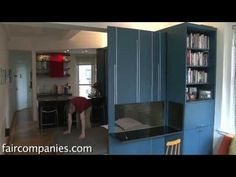 Tiny Origami apartment in Manhattan unfolds into 4 rooms - YouTube