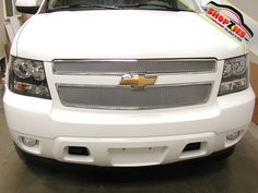 Chevy Suburban Tahoe Mesh Grille Grill Upper Insert Silver Grillcraft CHE-1507-S