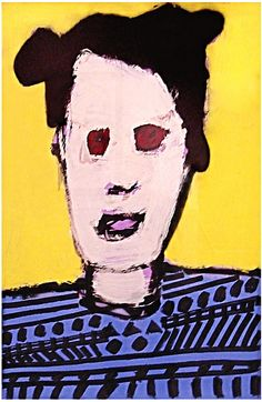 """Skot Foreman Gallery Nick  Vukmanovich """"Portrait XIII"""" 2001 Acrylic and spray paint on paper    37 x 25 in  94 x 63 cm Hand-signed """"N Vukmanovich"""""""