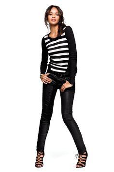 The white (& black) stripes. #VSTrendEdit