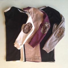Sequin Patch Sweaters #swoonboutique