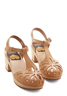 Cutout For Anything Heel in Tan. Great footwear can inspire great things - and in these tan heels, youre ready for just about anything! #tan #modcloth