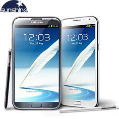 "Original Unlocked Samsung Galaxy Note 2 II N7100 N7105 Mobile Phone 5.5"" Quad Core 8MP GPS WCDMA Refurbished Smartphone"