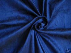 ROYAL BLUE 100% DUPIONI SILK FABRIC YARDAGE Quilt Sew Drapery