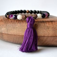 Obsidian & Agate for protection from negativity by BlissfulLily, €22.00