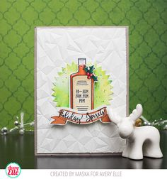 Maska Vanacker for Avery Elle Supplies: Holiday Spirits Clear Stamps & Dies
