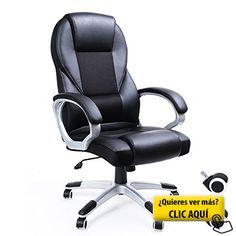 Songmics Sillas de Escritorio de Oficina Giratoria negro OBG22B #silla #ordenador