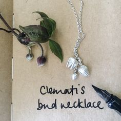 This necklace is inspired by the buds of clematis Montana and the wild clematis that lives in Fenny hedgerows. I make each bud in fine silver & each is articulated & moves separately as the wearer moves. Perfect for Spring. Made to order
