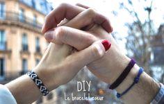 un autre tuto pour le bracelet bresilien coeur