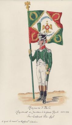 Kingdom Of Naples, Kingdom Of Italy, Soldier 10, Italian Army, National History, American Illustration, French Empire, French Army, Holland