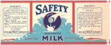 Vintage Safety Evaporated Milk Can Label Cleveland,Oh.