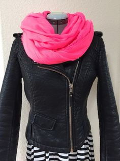 Cotton scarf in hot pink by NativeBabydoll on Etsy