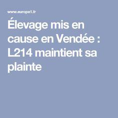 Élevage mis en cause en Vendée : L214 maintient sa plainte