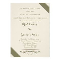Vintage Romance Wedding Invitations