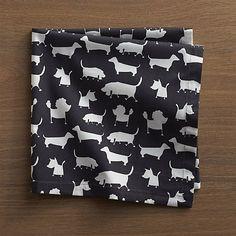 dog napkins