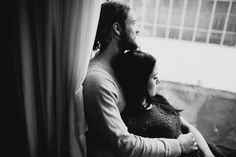Cosy Homestory Window Rain Couple Engagement Shooting by A Tale of two Hearts