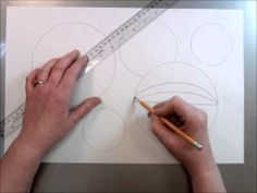 Tumbling Spheres Op Art Drawing