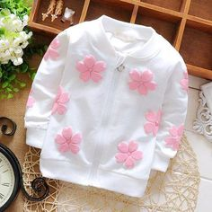 0--12 M Spring autumn girls baby clothes outfits print sweater coat for girls infants baby clothing brand cotton hoodie jacket