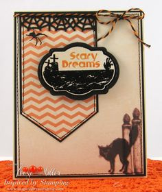Inspired by Stamping, A Spooky Halloween stamp set, A Spooky Halloween Digital Paper, Halloween card