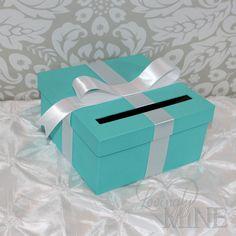 Card Holder Tiffany & Co. Inspired Box Tiffany by LovinglyMine, $20.00