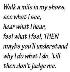 Don't judge me! True