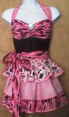 Love Pink Camo Apron!
