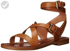 Sigerson Morrison Women's Ainsley Flat Sandal, New Luggage, 6 M US - All about women (*Amazon Partner-Link)