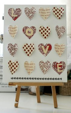 This LOVE wall art was made by Francine Clouden using the Homespun Sunshine Little Black Dress Kit Club Kit    little black dress kit club scrapbook wall art, canvas art altered art