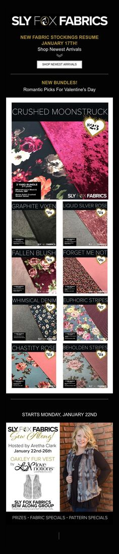 NEW FABRIC STOCKINGS RESUME JANUARY 17TH!  Shop Newest Arrivals