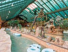Wild Bear Falls Indoor Water Park! Westgate Smoky Mountain Resort, Gatlinburg, Tennessee.  60,000 sq ft and a retractable roof.  Sounds awesome!