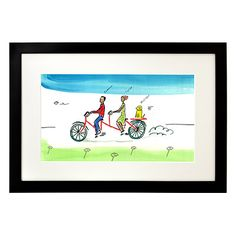 Look what I found at UncommonGoods: personalized couple tandem bike art... for $110 #uncommongoods