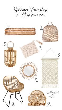 Rattan, Bambus & Makramee - Naturmaterialien für zu Hause - New Home - Home Decor Rattan, Wicker, Natural Home Decor, Diy Home Decor, Natural Furniture, Decoration Crafts, House Decorations, Ideas Prácticas, Decor Ideas