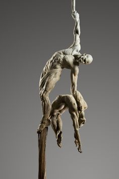 'Orpheus Ascending' by Richard MacDonald.    (The attempt of Orpheus to retrieve his wife, Eurydice, from the underworld)