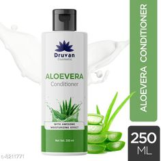 Conditioner Druvan Cosmetic Aloevera Conditioner For Hair Growth pack of 1 (250ml)  Product Name: Druvan Cosmetic Aloevera Conditioner For Hair Growth pack of 1 (250ml)  Brand Name: Druvan Cosmetic Hair Type: All Hair Type Flavour: Aloe Vera Multipack: 1 Country of Origin: India Sizes Available: Free Size   Catalog Rating: ★4.1 (294)  Catalog Name: Druvan Cosmetic Sensational Natural Conditioner CatalogID_1368165 C166-SC2040 Code: 281-8211771-993