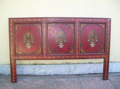 Testata da letto indiana dipinta epoca 900   160lx104hx3p