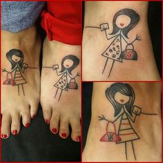 50 Heart-Warming Sister Tattoos Ideas - no sister just thought they were cute