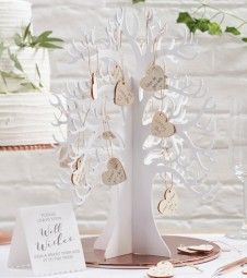 This beautiful Wishing Tree is the perfect alternative guest book for your special wedding day The beautiful white wooden tree comes with 70 blank Wooden Wedding Guest Book, Wedding Book, Wedding Table, Wedding Day, Wedding Anniversary, Wedding Messages, Wedding Wishes, Wedding Places, Wedding Place Cards