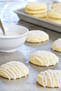 Pound Cake Cookies: If you love cake mix cookies, wait until you try these.  Get the recipe from My Baking Addiction.