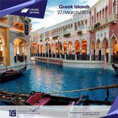 27/March/2016 Greek Islands -- Italy, Greece and Croatia -- VENICE,BARI (Italy), CORFU ,SANTORINI ,ATHENS-PIRAEUS ,DUBROVNIK, VENICE FOR RESERVATION OR MORE INFORMATION CALL 03-847163 / 71-941100 #travel #greekislands #greece #croatia #venice #bari #corfu #santorini #athens #piraeus #dubrovnik #venice #tour #cruise #GhaithTravel