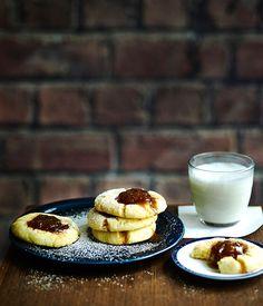 Australian Gourmet Traveller recipe for spiced fig jam drops.