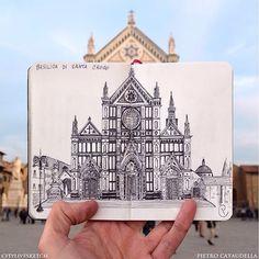 @citylivesketch Basilica of Santa Croce Live Sketch.  #archisketcher