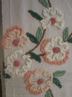 Pink Chenille Bedspread.