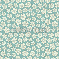 Bride Flowers designed by Viktoryia Yakubouskaya, vector download available on patterndesigns.com Vector Pattern, Pattern Design, Bride Flowers, Mint Blue, Backrounds, Small Flowers, Vector File, Blue Backgrounds, Surface Design