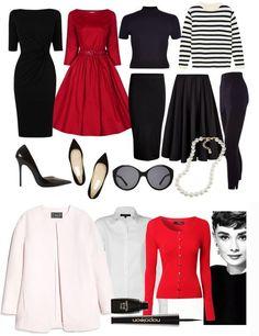 Audrey Hepburn Style Capsule Wardrobe                                                                                                                                                                                 More