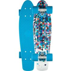 Amazon.com : Penny Complete Skateboard, 22-Inch, Red/White/Cyan : Penny Board Red Cyan : Sports & Outdoors