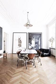 Inside a Contemporary Copenhagen Home With Period Details via @MyDomaine